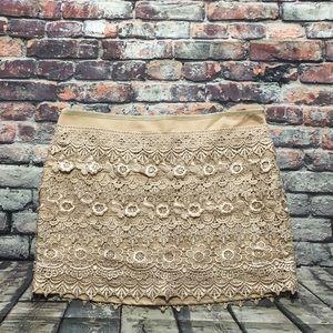 3a5ff0381c16 Sans Souci Skirts - Sans Souci Crocheted Mini Skirt Women's Size S